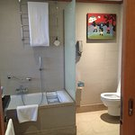 Nice & comfortable.  Bathroom has separate tub & shower.