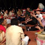 ethnic dance on Mancotta Chang Bungalow grounds