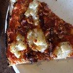 Mashed Potato and Bacon Pizza...so good!