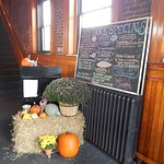 The front podium/entrance all decked out for autumn!