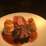 Venison & pigeon, red cabbage , spinach and marquise potatoes