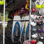 Wakeboards and helmets for you to rent