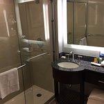 nice bathroom but tiny sink