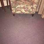 Peanuts on floor after housekeeping prepped new room before I arrived