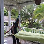 getting ready for my massage on the balcony with the sounds of the ocean -bliss