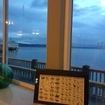 Blick vom Frühstücksraum auf's Meer