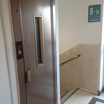 The lift and stairs.