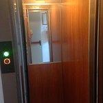Inside the lift.