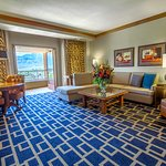 The sitting are in our spacious one-bedroom suite!