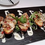 Lump crab & wild mushroom bruschetta - good flavor and nicely presented