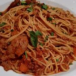 Spaghetti - Good pasta but another salt overloaded dish