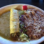 Having the lunch special for only $5.99...shredded beef enchilada. I asked for double beans and