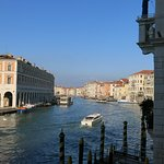 View of Grand Canal from terrace of Al Ponte Antico