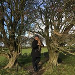 Photo Michael caught of me making wishes on the fairy tree at the Hill of Tara:-)