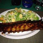 Full rack with Caesar salad
