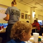 The grandkids love The Catfish Place. They can get grill cheese and little chicken with hush pup