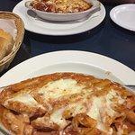 Baked ziti and pasta trio