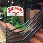 Beautiful entry to Saltgrass on the River Walk in San Antonio