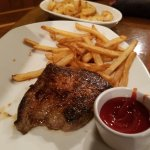 Bloomin burger and baked potato; endless shrimp;chicken and fries and steak and fries.