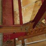 Attic joint. Steel beams