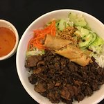 Bun Beef Vermicelli with Egg Roll