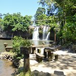 Picnic area and waterfall