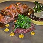 Black Angus eye Fillet, Portobello Mushroom, Roman Gnocco, Onion Marmalade.
