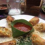 Warung Enak's spring rolls