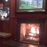 fireplace of golf clubhouse dining and reception areas