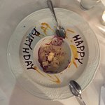Complimentary birthday desert