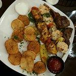 Jamal's Feast- lots of protein & veggies. VG w tzatziki sauce