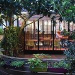devanture et patio