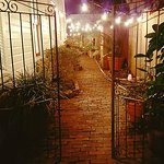 Vintage brick side courtyard - 44 Spanish Street Inn, St. Augustine Florida