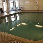 Indoor Pool...Heated Room...Pool is just right...not bath water or freezing cold. Tip...slip in