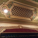 Ceiling detail above stage