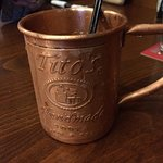 The Silverdale Mule  - Tito's Vodka; ginger liqueur; housemade ginger beer & lime!   Oh Baby!!