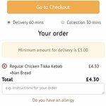 Minimum order value.