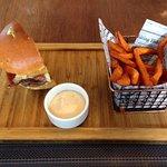 1/2 Burger and Sweet Potato Fries