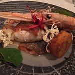Dingle Bay prawns on Hake