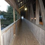 The pedestrian side of the Jackson covered bridge