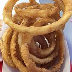Large order crispy onion rings