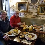 Lovely meal for 4 today ...2 porks 1 lamb and 1 fish and chips ....perfect!