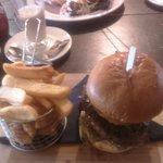 Horsehoe Gammon and Stilton and Mushroom Beefburger