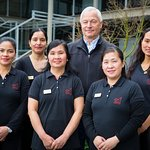 Argent Motor Lodge owner, Graeme Hunt and our amazing team of Housekeeping Staff - 2016.