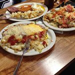 Ham and eggs & Deluca's omelet,