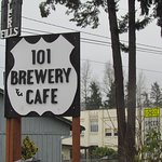 The sign out front on highway 101, Quilcene, Washington
