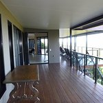 Deck area outside rooms