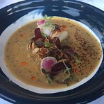 Lobster tail in bisque