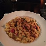 Lobster Mac & Cheese with bread crumbs