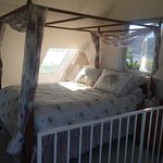 The four poster bed upstairs
